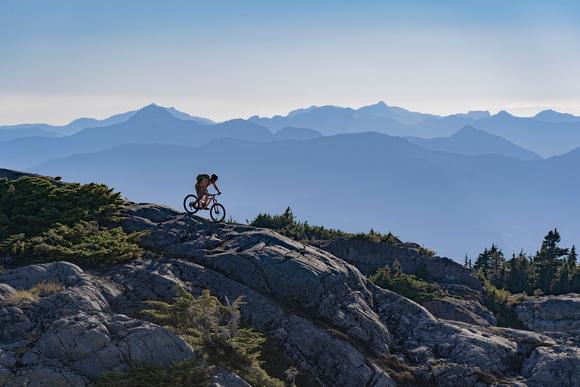 Gill Sillhouette Against Sunshine Coast Peaks