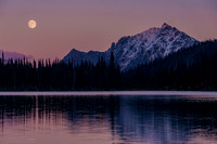 Moonrise over Tenquille Lake, Near Pemberton, BC, September 2015